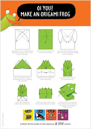 Oi Cat! - make an origami frog