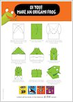 Oi Cat! - make an origami frog (1 page)