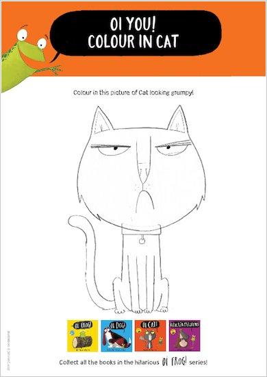 Oi Cat! - colouring