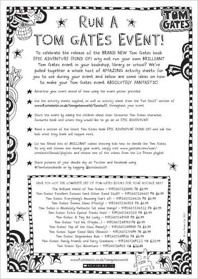 Tom Gates: Epic Adventure (Kind Of) - run a Tom Gates event