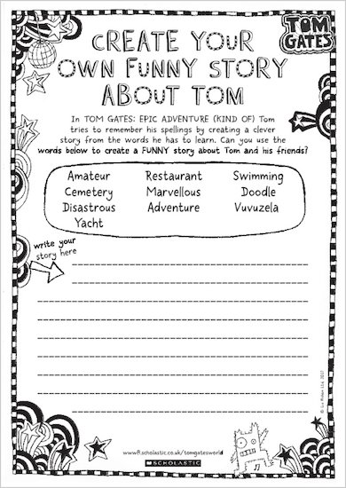 Tom Gates: Epic Adventure (Kind Of) - create your own story