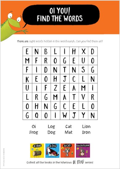 Oi Cat! - wordsearch