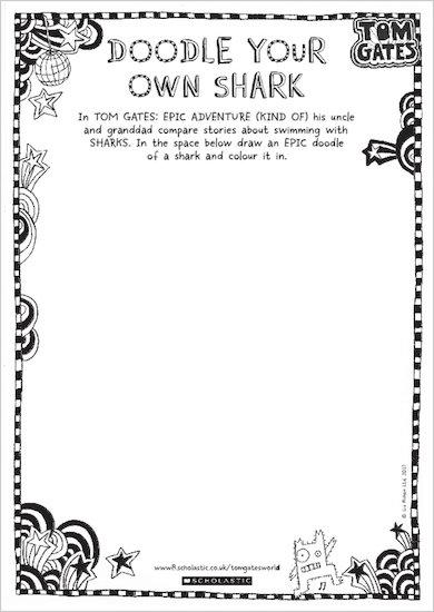 Tom Gates: Epic Adventure (Kind Of) - doodle your own shark