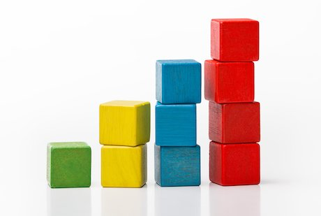 building blocks bar chart