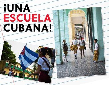 ¡Una escuela cubana!