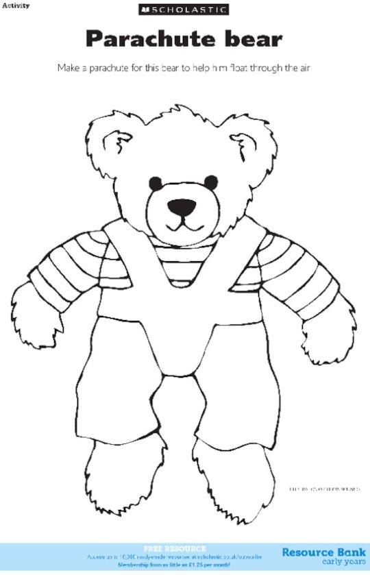 Parachute bear