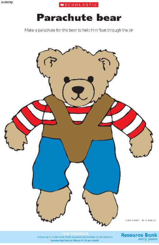 Parachute bear in colour