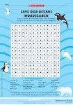 'Save our oceans' wordsearch (1 page)