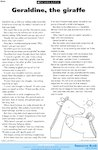 Geraldine, the giraffe - story (1 page)