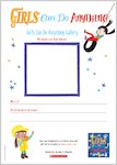 Girls Can Do Anything Drawing Activity (1 page)