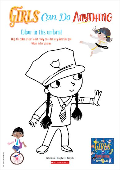 Girls Can Do Anything Colouring Activity