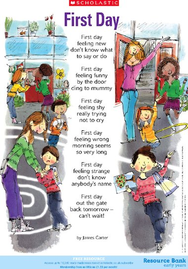 First day\' poem – starting a new school year – FREE Primary KS2 ...