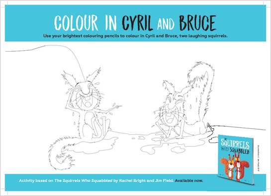 The Squirrels Who Squabbled - colouring