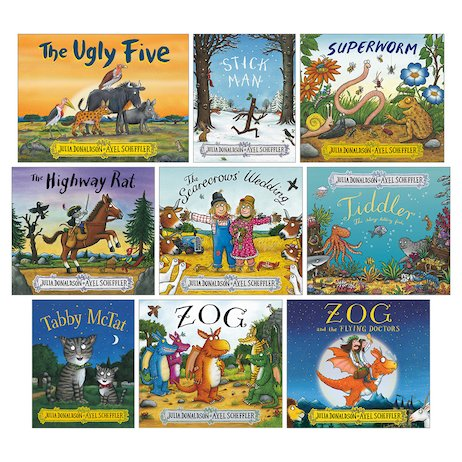 Julia Donaldson and Axel Scheffler Pack x 9