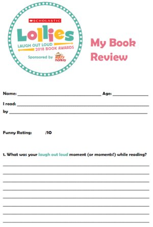 Lollies book review template