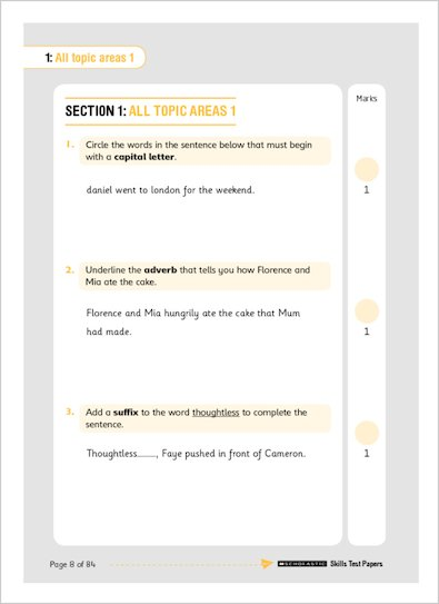 National Curriculum SATs Challenge Key Stage 2 Skills Tests page 8