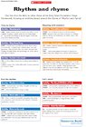 Rhythm and rhyme – EYFS cross-curricular links chart