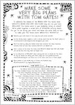 Tom Gates: Biscuits, Bands and Very Big Plans activity sheets (6 pages)