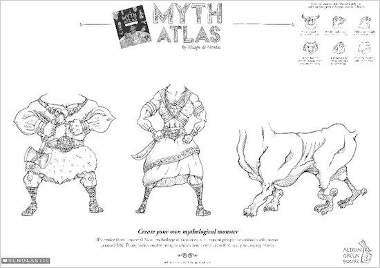 Myth Atlas drawing activity