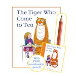 The Tiger Who Came to Tea with Notebook and Pencil