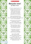 'Recycle now!' poem