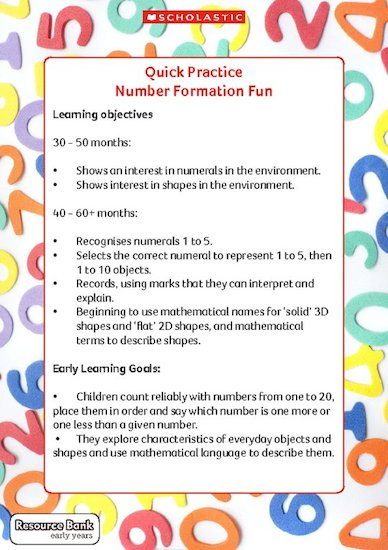 Quick Practice - Number Formation Fun (Digital Download Edition)