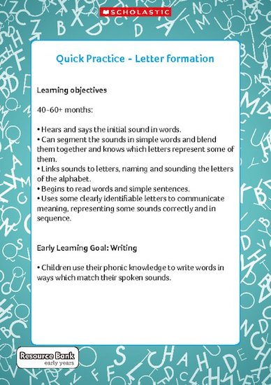 Quick Practice - Letter Formation (Digital Download Edition)