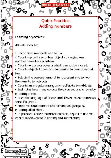 Quick Practice - Adding Numbers (Digital Download Edition)