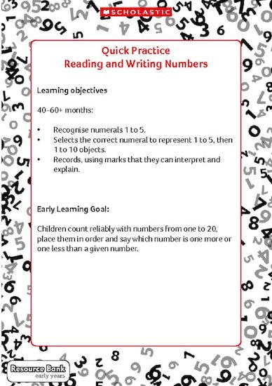 Quick Practice - Reading and Writing Numbers (Digital Download Edition)