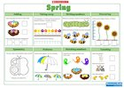 Spring Maths Activity Mat