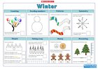 Winter Maths Activity Mat