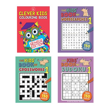 Clever Kids Puzzle Pack x 4