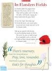 'In Flanders Fields' poem by John McCrae (1 page)