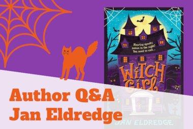 Author Q&A Jan Eldredge Witch Girl blog header