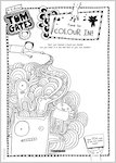 Tom Gates What Monster? Colour in activity sheet (1 page)