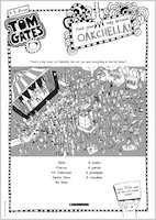 Tom Gates What Monster? Oakchella activity sheet