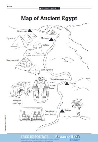 Map of Ancient Egypt – FREE Primary KS2 teaching resource - Scholastic