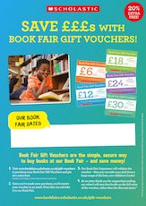 Gift Vouchers poster - Scholastic Book Fairs