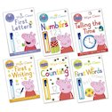 Peppa Pig Wipe-Clean Learning Pack x 6