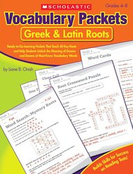 Vocabulary Packets: Greek and Latin Roots