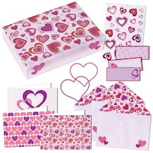 Hearts Mini Stationery Box