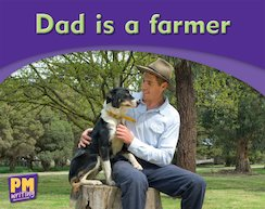 PM Writing Emergent: Dad is a Farmer (PM Magenta) Levels 1, 2 x 6