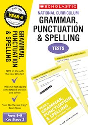 Grammar, Punctuation and Spelling Tests (Year 4)