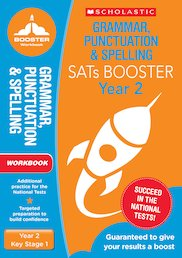 National Curriculum SATs Booster Programme: Grammar, Punctuation and Spelling Workbook (Year 2) x 10