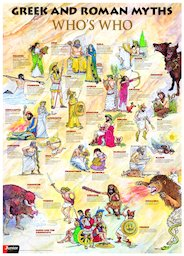 Greek and Roman myths - Who's who poster