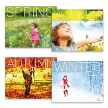 Seasons of the Year Pack x 4