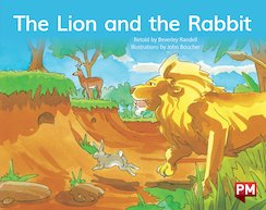 PM Blue: The Lion and the Rabbit (PM Storybooks) Level 9 x 6