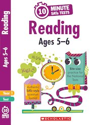 10-Minute SATs Tests: Reading - Year 1 x 30