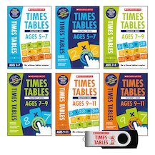 National Curriculum Times Tables Classroom Pack (6 books + USB)