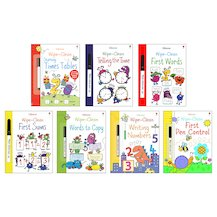 Usborne Wipe-Clean Learning Pack x 7